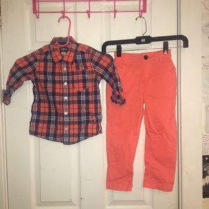 OshKosh B'gosh Plaid Set